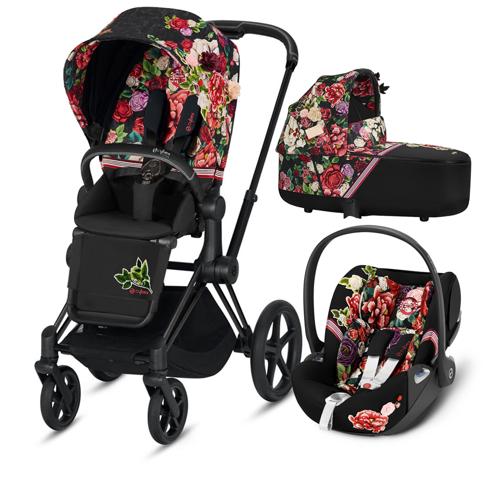 Коляска Cybex Priam III (3в1) Spring Blossom Dark (Matt/Black)
