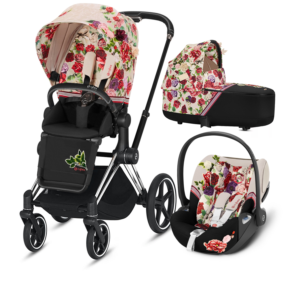 Коляска Cybex Priam III (3в1) Spring Blossom Light (Сhrome/Black)