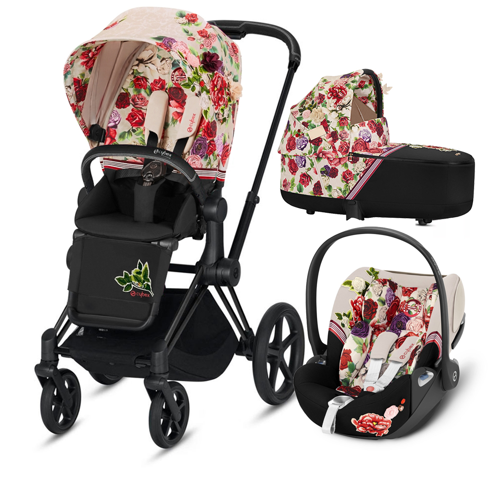 Коляска Cybex Priam III (3в1) Spring Blossom Light (Matt/Black)